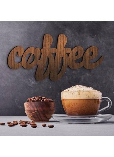 Artikel Renkli 30X14,7Cm Coffee Mdf Dekoratif Duvar Yazısı Renkli